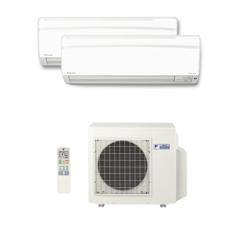 Ar Condicionado Multi Split Inverter Daikin Advance 1x9000 + 1x18000 HW Btus Quente/Frio 220V 1F
