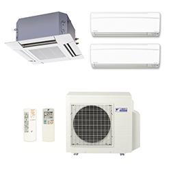 Ar Condicionado Multi Split Inverter Daikin Advance 2X9000(HW) + 1X12000(Cassete) BTU/s Quente/Frio 220V 1F