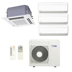 Ar Condicionado Multi Split Inverter Daikin Advance 3X9000(HW)+1X18000(Cassete) Btu/s Quente/Frio 220v 1F
