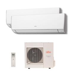 Ar Condicionado Multi Bi Split Inverter Fujitsu 2x9000 Btus Quente/Frio 220v 1F AOBG14LAC2