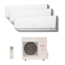 Ar Condicionado Multi Tri Split Inverter Fujitsu 3x9000 Btus Quente/Frio 220v 1F AOBG18LAT3