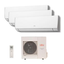 Ar Condicionado Multi Tri Split Inverter Fujitsu 2x9000 + 1x12000 Btus Qf 220v 1F AOBG24LAT3