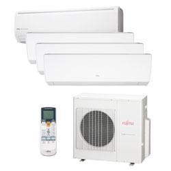 Ar Condicionado Multi Quadri Split Inverter Fujitsu 3x9000 + 1x18000 Btus Qf 220v 1F AOBG30LAT4