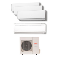 Ar Condicionado Multi Quadri Split Inverter Fujitsu 2x9000+1x12000+1x18000 Btus Qf AOBG30LAT4
