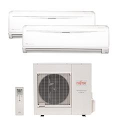 Ar Condicionado Multi Bi Split Inverter Fujitsu 1x18000+1x24000 Btus QF 220v 1F AOBG36LBTA4