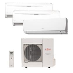 Ar Condicionado Multi Tri Split Inverter Fujitsu 1x12000+2x18000 Btus Qf 220v 1F AOBG36LBTA4