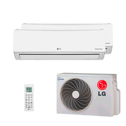 Ar Condicionado Multi Bi Split Lg Inverter 2X7000 Btus Hw 220V Quente/Frio 1F A2UW16GFA2
