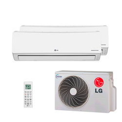 Ar Condicionado Multi Bi Split Lg Inverter 1X9000 + 1X18000 Btus Hw 220V Quente/Frio 1F A2UW16GFA2