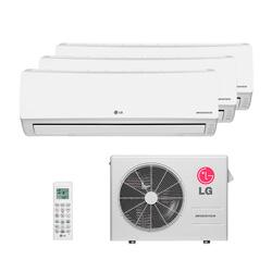 Ar Condicionado Multi Tri Split Lg Inverter 2X9000 + 1X12000 Btus Hw 220V Quente/Frio 1F A3UW21GFA0