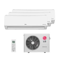 Ar Condicionado Multi Tri Split Lg Inverter 2X9000 + 1X18000 Btus Hw 220V Quente/Frio 1F A3UW21GFA0