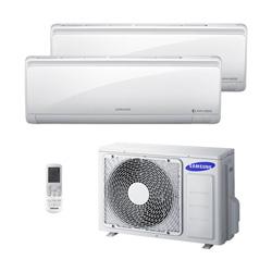 Ar Condicionado Multi Bi Split Samsung Inverter 2X 12000 Btus Hw 220V Quente/Frio 1F RJ050F2HXBA