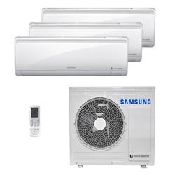 Ar Condicionado Multi Tri Split Samsung Inverter 2X9000+1X18000 Btus Hw 220V Quente/Frio 1F RJ080F4HXBA