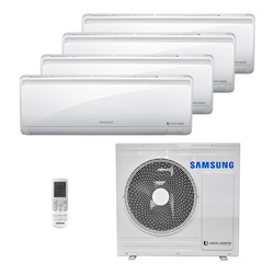 Ar Condicionado Multi Quadri Split Samsung Inverter 4X9000 Btus Hw 220V Quente/Frio 1F RJ080F2HXBA