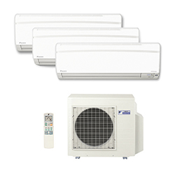 Ar Condicionado Multi Tri Split Daikin Inverter 2X9000+1X18000 Btus 220V Quente/Frio 1F S3MXS2409P