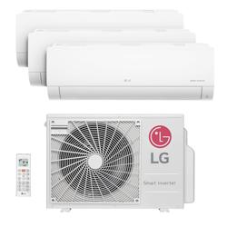 Ar Condicionado Multi Tri Split Inverter Hw Lg 2X9000 + 1X18000 Btus Quente/Frio 220V 1F A3UW21GFA2
