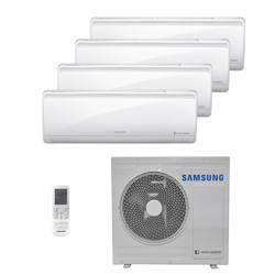 Ar Condicionado Multi Quadri Split Hw Inverter Samsung 3X9000+1X12000 Btus Quente/Frio 220V 1F AJ028NCJ4CH/AZ