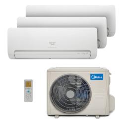 Ar Condicionado Multi Tri Split Hw Inverter Springer Midea 2X9000+1X12000 Btus Quente/Frio 220V 38MBTA27M5