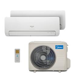 Ar Condicionado Multi Bi Split Hw Inverter Springer Midea 1x9000+1x18000 Btus Quente/Frio 220V 38MBBA18M5