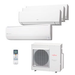 Ar Condicionado Multi Quadri Split Inverter Fujitsu 2x9000+1x12000+1x18000 Quente/frio 220V Monofasico AOBG36LBTA44